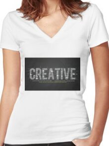 Creative Women's Fitted V-Neck T-Shirt