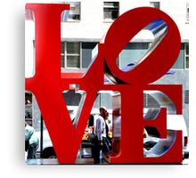 LOVE Sculpture by Robert Indiana Canvas Print