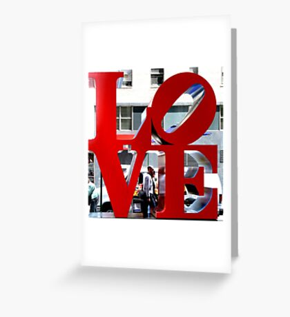 LOVE Sculpture by Robert Indiana Greeting Card