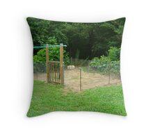 The Goin' Greener Veggie Garden Throw Pillow