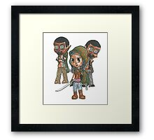 Zombie Samurai Framed Print