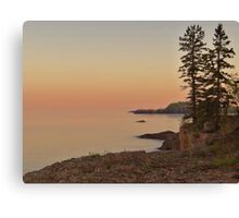 Sunset on Silver Bay Canvas Print