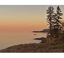 Sunset on Silver Bay Photographic Print