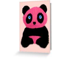 Pink blue-eyed panda Greeting Card