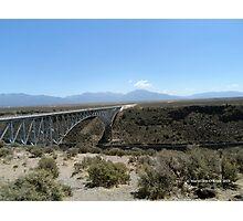 Bridge over Rio Grande Gorge Photographic Print