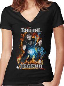 Brutal Legend Eddie Riggs Women's Fitted V-Neck T-Shirt
