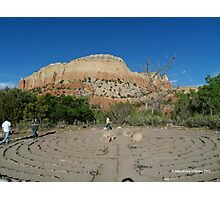 Labyrinth at Ghost Ranch Photographic Print