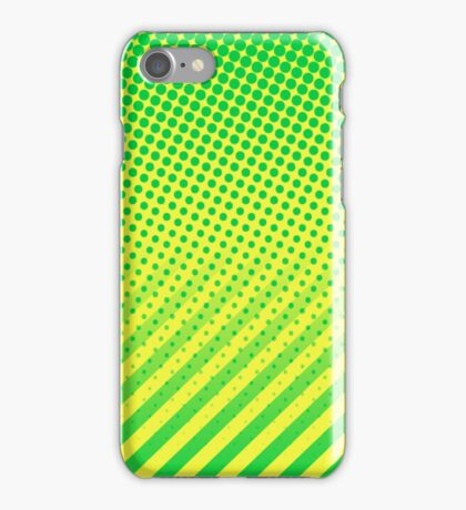 Yellow and Green dots and Stripes iPhone Case/Skin