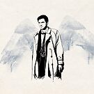 Castiel portrait sketch / SUPERNATURAL by koroa