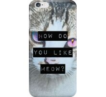 """""""HOW DO YOU LIKE MEOW"""" Case - Cat iPhone Case/Skin"""