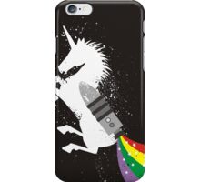 Grunge rocket rainbow unicorn space dust iPhone Case/Skin