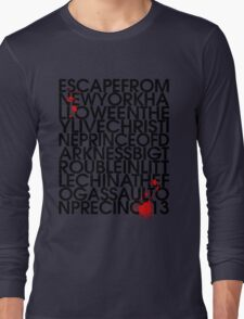John Carpenter's Filmography in Typography Long Sleeve T-Shirt