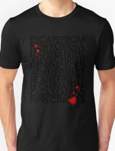 John Carpenter's Filmography in Typography T-Shirt