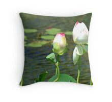 Budding Lotus Throw Pillow
