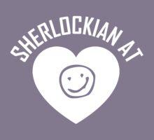 SHERLOCK FAN SHERLOCKIAN AT HEART - WHITE TEXT by thischarmingfan