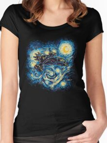 Starry Flight Women's Fitted Scoop T-Shirt