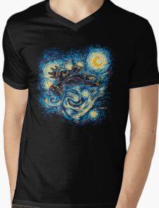 Starry Flight Mens V-Neck T-Shirt
