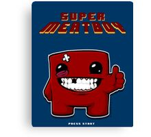 Super Meat Boy BLUE Canvas Print