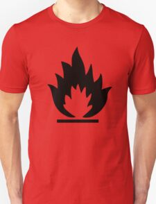 Flammable Warning Sign T-Shirt