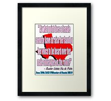 A Woman's Voice 1 Framed Print