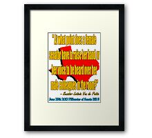 A Woman's Voice 3 Framed Print
