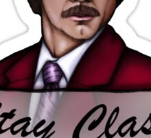 Ron Burgundy - Stay Classy - Anchorman Sticker