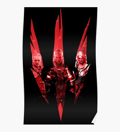 Wild Hunt Heroes (The Witcher 3) Poster