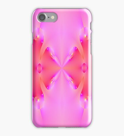 Pink Fractal Math Art  iPhone Case/Skin