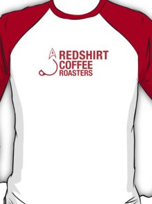 Redshirt Coffee Roasters (Red On white) T-Shirt