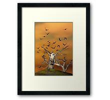 Pesky Birds Framed Print