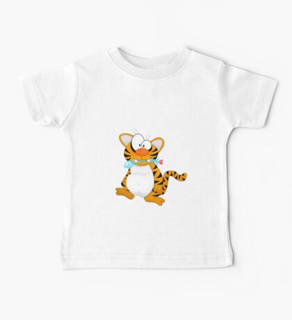 Cartoon tiger Baby Tee