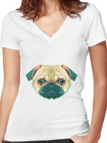 Dog Animals Gift Women's Fitted V-Neck T-Shirt