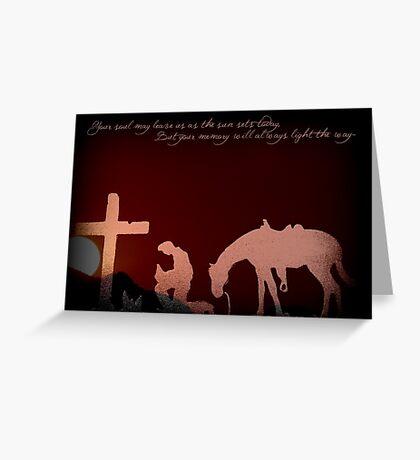 Cowboy Sympathy  Greeting Card