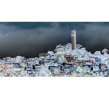Coit Tower Surreal Photographic Print