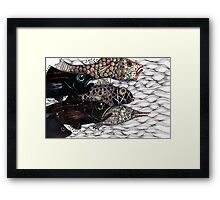 Escape the hook Framed Print