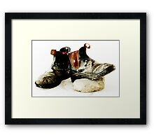 Working Boots 03 Framed Print