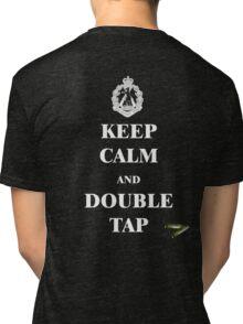 Keep Calm & Double Tap Tri-blend T-Shirt