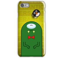 Green Monster and Penguin Ball iPhone Case/Skin