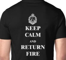 Keep Clam & Return Fire dark Unisex T-Shirt