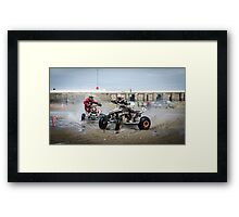 Beach Racing Framed Print