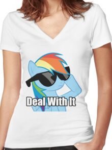 Rainbow Dash!  Women's Fitted V-Neck T-Shirt