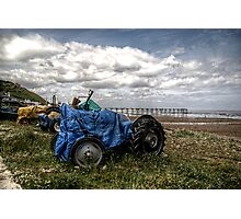 Tractor Pier Photographic Print