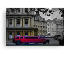 stretch Limo in Royal Circus Canvas Print