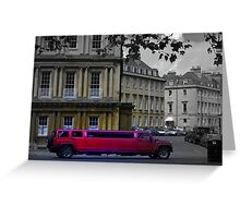 stretch Limo in Royal Circus Greeting Card