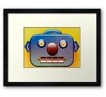 Blue Face Robot 2 Framed Print