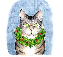 Cat with Wreath by srw110