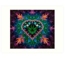 Flower Heart Art Print