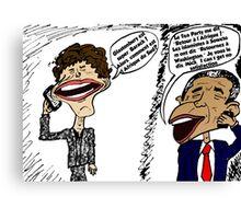 Jagger et Obama parlent Canvas Print