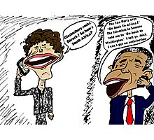 Jagger and Obama Chat Photographic Print