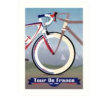 Tour De France Bike Art Print
